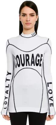 Versace Courage Printed Stretch Jersey T-Shirt