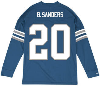 Mitchell & Ness Men's Barry Sanders Detroit Lions Retro Player Name & Numer Longsleeve T-Shirt
