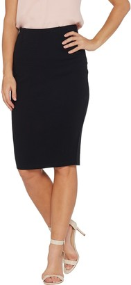 Brooke Shields Timeless BROOKE SHIELDS Timeless Ponte Knit Pull-on Pencil Skirt