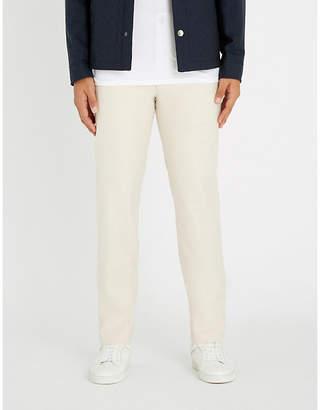 Richard James Regular-fit straight cotton-blend trousers
