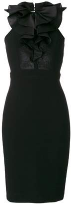 DSQUARED2 ruffle neck bodycon dress
