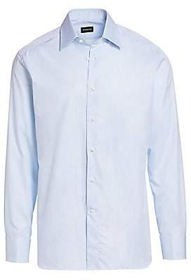 Ermenegildo Zegna Men's French Cuff Cotton Shirt
