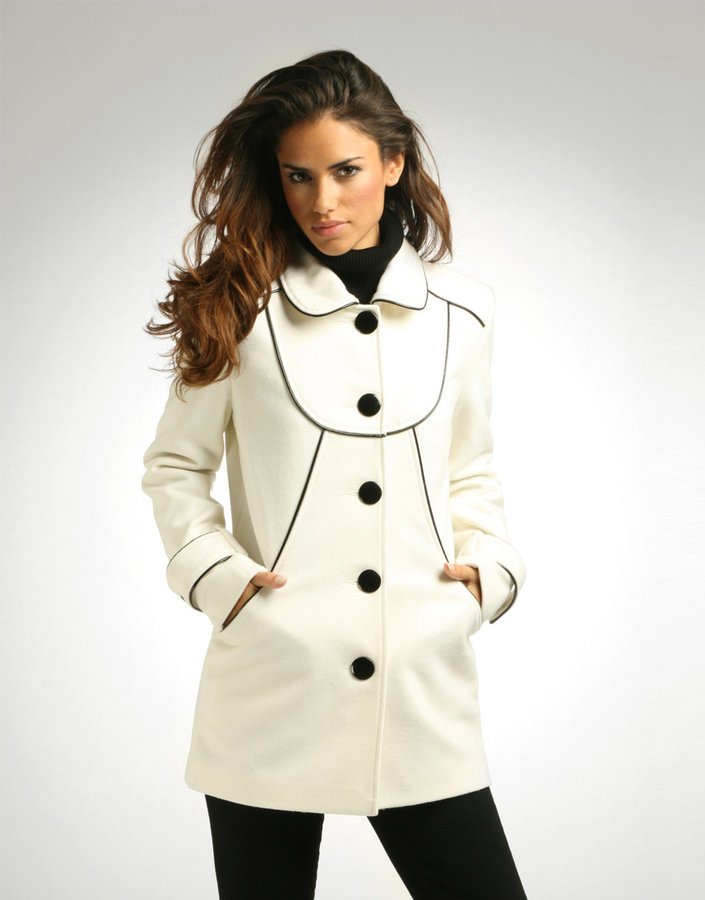 Jade Jagger Contrast Piped Coat