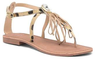 SJS Cordelia Genuine Pony Hair Flat Sandal
