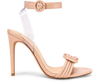 Alexandre Birman Vicky Ankle Heel in Light Sand & Transparent | FWRD