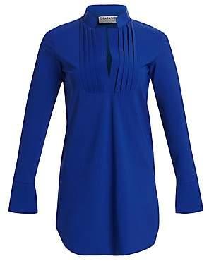 Chiara Boni Women's Ineta Smocked Stretch-Jersey Tunic