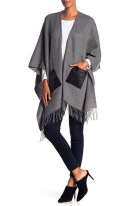 Portolano Wool Leather Pocket Ruana