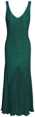 Alexander Wang Fluted Ribbed-Knit Midi Dress