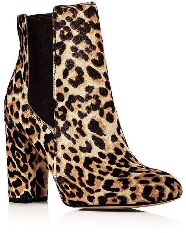 Sam Edelman Women's Case Leopard Print Calf Hair High Heel Booties