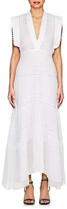 Isabel Marant Women's Zayla Embroidered-Eyelet Cotton Maxi Dress