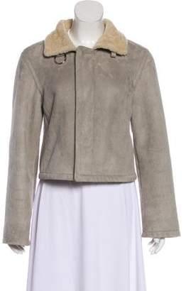 Ralph Lauren Button-Up Shearling Jacket