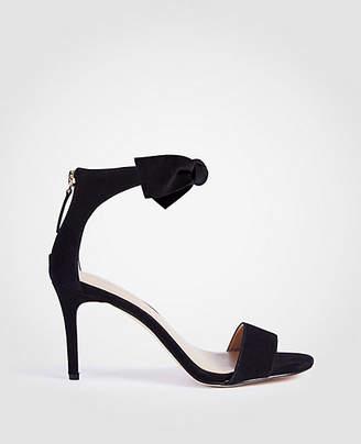 Ann Taylor Rosalyn Suede Leaf Heeled Sandals