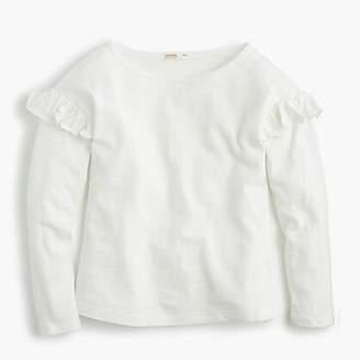 J.Crew Girls' long-sleeve T-shirt with ruffles