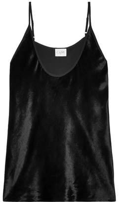 CAMI NYC Luna Velvet Camisole - Black