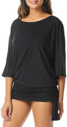 MICHAEL Michael Kors Iconic Solids Side Tie Cover-Up