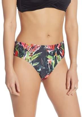 62a305c45a886 Nicole Miller Multicolor Tropical Print Full Coverage Bikini Bottoms