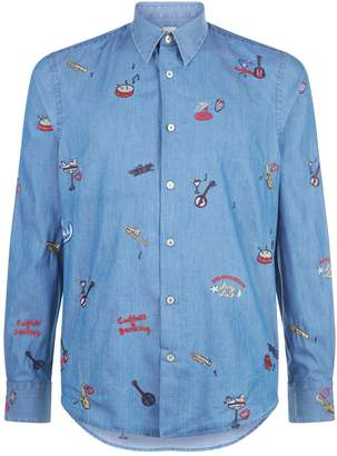Paul Smith Embroidered Motif Shirt