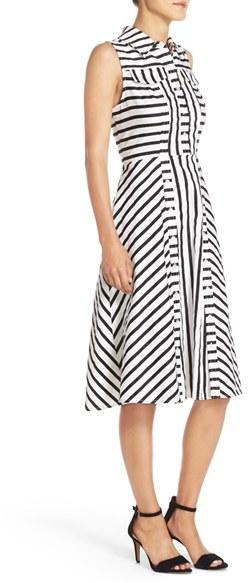 Women's Julia Jordan Stripe Stretch Cotton Shirtdress 2