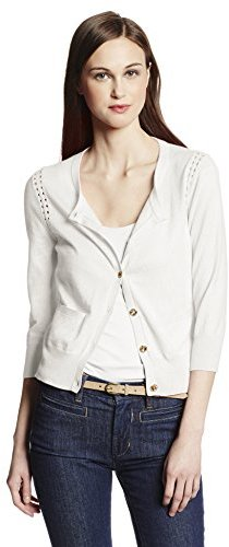 Juicy Couture Women's Cardigan Sweater with Pointelle Detail