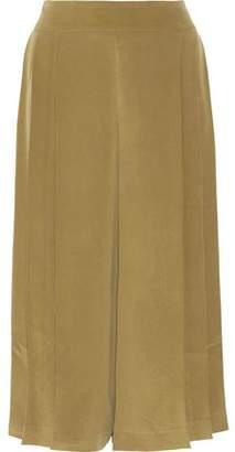 Max Mara Pleated Washed-Silk Culottes