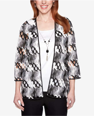 Alfred Dunner Petite Native New Yorker Layered-Look Necklace Top
