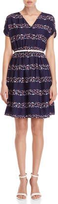Yumi Swimming Stripe Belted Dress