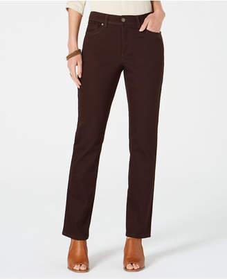 Style&Co. Style & Co Tummy-Control Straight-Leg Fashion Jeans