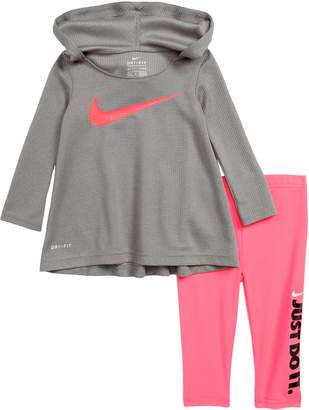 Nike Dry 2-Piece Hooded Tunic & Leggings Set