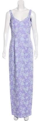 Carmen Marc Valvo Embellished Sleeveless Gown