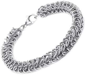 Theia Stainless Steel Curb Chain 21.5cm ID Bracelet h4DJdfCy1