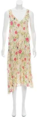 Marni Floral Print Maxi Halter Dress