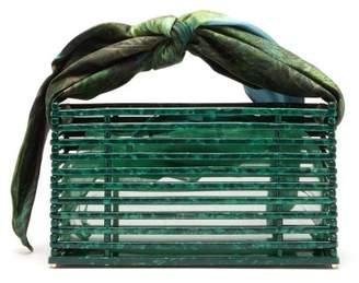 Montunas Guaria Scarf Handle Acetate Box Bag - Womens - Green Multi