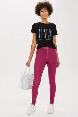 Topshop Purple Joni Jeans