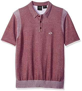 Armani Exchange A|X Men's Short Sleeve Logo Knit