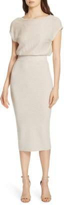 Alice + Olivia Shara Twist Back Blouson Dress