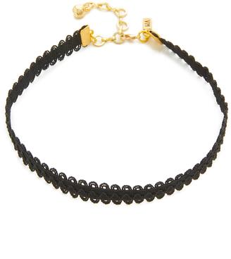 Vanessa Mooney Black Lace Choker Necklace $30 thestylecure.com