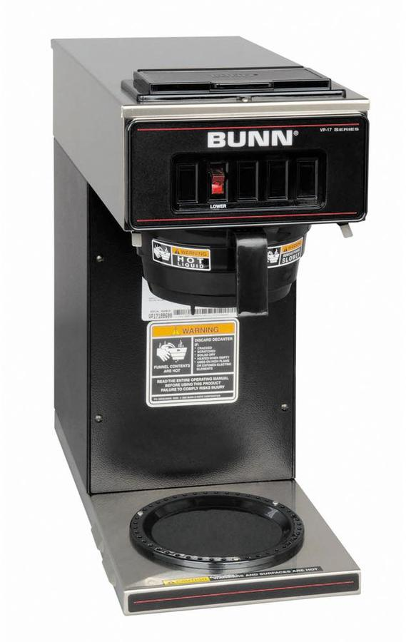 Bunn-O-Matic 64 oz. Low Profile Pourover Coffee Brewer with 1 Warmer in Black