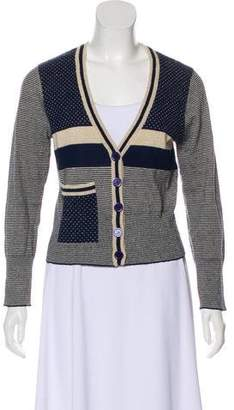 Marc by Marc Jacobs Metallic Button-Up Cardigan
