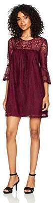 Speechless Women's Bell Sleeve Lace Shift Dress