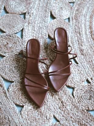 Goodnight Macaroon 'Peony' Tiny Straps Heeled Sandals