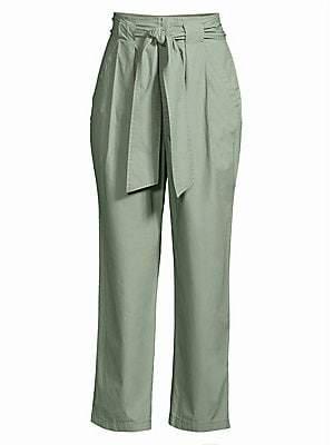Rebecca Taylor Women's Poplin Tie Pants
