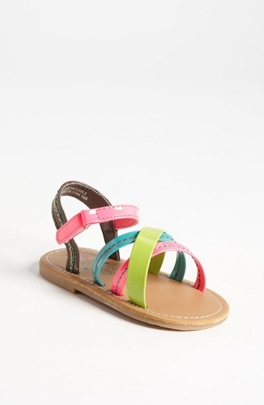 Laura Ashley 'Neon' Sandal (Walker & Toddler)