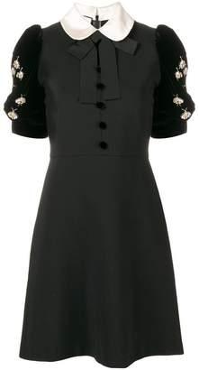 Gucci embellished short-sleeve dress