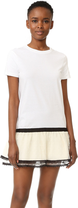 RED Valentino Lace Hem T-Shirt Dress $450 thestylecure.com