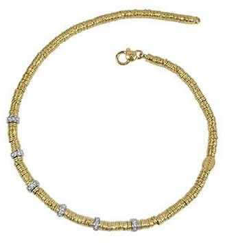 Torrini Rondelle Moving Big - 18K Yellow Gold and Diamond Necklace