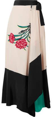 Diane von Furstenberg Printed Silk Wrap Midi Skirt - Ivory