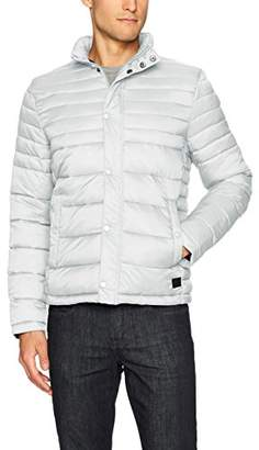 Kenneth Cole New York Men's Packable Jacket with Stand Collar
