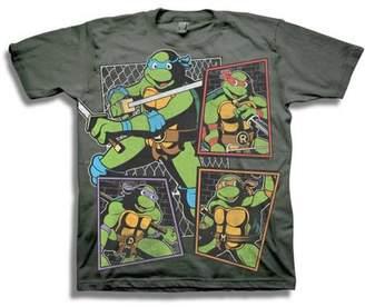 Teenage Mutant Ninja Turtles TMNT Classic Character Panels Group Shot Boys' Short Sleeve Graphic Tee T-Shirt