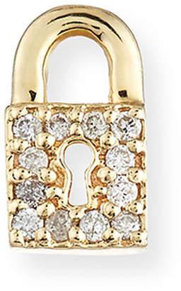 Sydney Evan 14k Diamond Lock Single Stud Earring