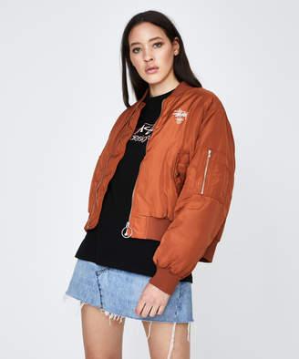 Stussy Copyright Bomber Jacket Terracotta Orange